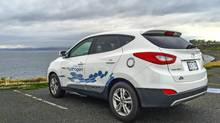 Hyundai Tucson Fuel Cell in B.C. (Peter Cheney/The Globe and Mail)