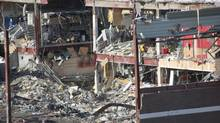 The remains of the Algo Centre Mall are seen in Elliot Lake, Ont., on Monday, March 4, 2013, the start of a public inquiry into the deadly collapse of the mall in June, 2012. (Colin Perkel/THE CANADIAN PRESS)
