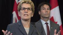 Ontario Premier Kathleen Wynne speaks in Toronto on Monday October 20, 2014. (Frank Gunn/THE CANADIAN PRESS)