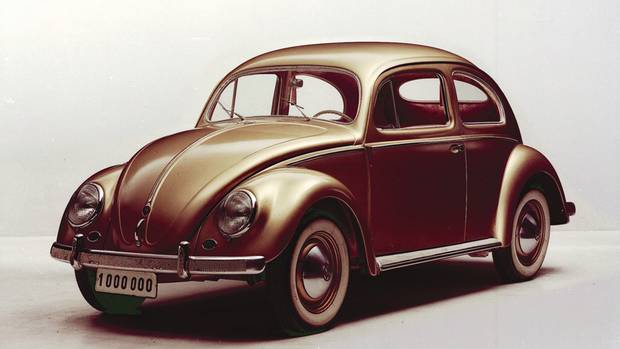 This 1955 Volkswagen Beetle was the 1,000,000th car produced by the Gernan auto maker. (Volkswagen)