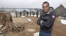 Canadian director Clement Virgo poses for a photo on the set of The Book of Negroes mini-series being shot in Cole Harbour, N.S., on Monday, April 28, 2014. (Darren Pittman/The Canadian Press)