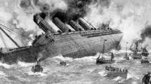 It was 'every man for himself' aboard the Lusitania, which sank minutes after it was hit by a torpedo in 1915, killing 1,200 passengers. (The Canadian Navy Heritage Project)