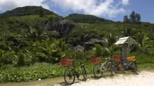 Bycicles on Grand Anse beach in Grenada. (iStockphoto/iStockphoto)