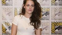 """Actress Kristen Stewart arrives for a panel discussion for the upcoming film """"The Twilight Saga Breaking Dawn Part 2"""" at Comic-Con in San Diego, California July 12, 2012. (Sam Hodgson/Reuters)"""