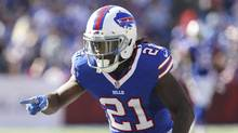 In this Sept. 25, 2016, file photo, Buffalo Bills defensive back Nickell Robey-Coleman points to an Arizona Cardinals player during an NFL football game in Orchard Park, N.Y. (Bill Wippert/AP)