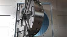 Bank vault door. (iStockphoto)