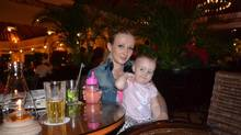 Ekaterina Evtropova, left, poses with her daughter Eva Ravikovich in this undated family handout photo. The mother of a two-year-old girl who died at an unlicensed daycare north of Toronto says now she has nothing to live for. The parents of Eva Ravikovich spoke out at their lawyer's office on August 8, 2013 as they launched a lawsuit against the owners of the daycare and the Ministry of Education. (HO/THE CANADIAN PRESS)