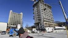 Construction of a Bondfield Construction condominium project near Church Street in Toronto on Jan. 28, 2015. (Fred Lum/The Globe and Mail)