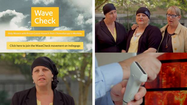 10. WaveCheck is a tool to help women with breast cancer know if chemotherapy is working. The Toronto-based team raised $31,397 on Indiegogo.