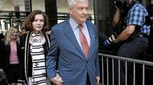 Barbara Amiel wears a Chanel scarf leaving court last week, a detail much remarked upon in media coverage of the latest adventures of Conrad Black. (John Gress/Reuters/John Gress/Reuters)