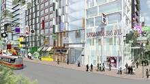 Renderings of the proposed development plan for Honest Ed's and Mirvish Village (Henriquez Partners Architects)