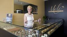 Meli Baklava & Chocolate Inc. co-owner Julie Kyriakaki, in the company's showroom area in Toronto on Wednesday, July 2, 2014. (Matthew Sherwood for The Globe and Mail)