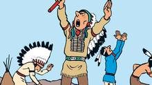 Tintin in America, the third volume of the Tintin comic-book series by Belgian artist Hergé, is under scrutiny in Manitoba after a campaign led to its temporary removal from a Chapters bookstore.