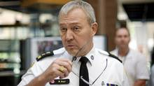Toronto Police chief Bill Blair prepares for a press conference at police headquarters in Toronto Tuesday, June 29, 2010. (Darren Calabrese/The Canadian Press/Darren Calabrese/The Canadian Press)