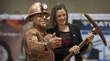 With gold prices off to the best start of the year in decades, there was a renewed confidence in the air on the first day of the mining industry's annual PDAC conference. (Kevin Van Paassen for The Globe and Mail)