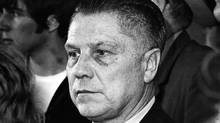 U.S. labor leader Jimmy Hoffa is photographed at the Greater Pittsburgh Airport, Pennsylvania in this April 12, 1971 file photograph. Hoffa was switching planes from San Francisco, and was returning to the federal prison in Allenwood, Pennsylvania (Jerry Siskind/Reuters)
