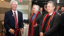 From left, Jim Carr, Canada's minister of natural resources; Dr. Ernest Moniz, United States secretary of energy; and Pedro Joaquin Coldwell, Mexico's secretary of energy in Winnipeg on Feb. 11. (Hand-out/Natural Resources Canada)