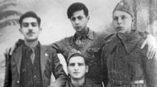 Jules Paivio (right) with American volunteers in the Lincoln battallion of the International Brigades during the Spanish Civil War 1937.