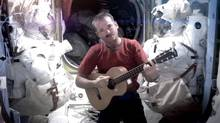 Astronaut Chris Hadfield covers David Bowie's Space Oddity. (Chris Hadfield/AP)