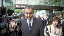 Dave Basi leaves BC Supreme Court October 18, 2010. Dave Basi and Bob Virk agreed to change their pleas while charges against a third person, Aneal Basi, cousin of Dave, were dropped altogether in the BC legislature raid trial to guilty. (John Lehmann/The Globe and Mail/John Lehmann/The Globe and Mail)