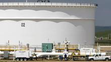 Enbridge Pipelines' oil terminal facility in Hardisty, Alta. (Larry MacDougal/THE CANADIAN PRESS)