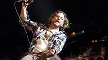 Members of the rock band Pearl Jam perform live to a sold out crowd at the Air Canada Centre Sunday September 11, 2011. (Tim Fraser For The Globe and Mail)