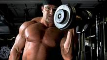Mark Richman, a Canadian bodybuilder who is also a school teacher, works out at a gym in Whitby, Ont., on Aug. 22, 2011. (Kevin Van Paassen/The Globe and Mail)