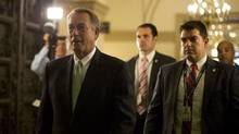 U.S. House Speaker John Boehner (R-OH) arrives on Capitol Hill in Washington October 11, 2013. (Jason Reed/REUTERS)