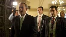 U.S. House Speaker John Boehner (R-OH) arrives on Capitol Hill in Washington October 11, 2013. (Jason Reed/REUTERS)