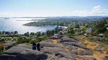 If you want to really stop and enjoy the galleries and tea shops, a hike is the way to go. Victoria for Travel story view-from-walbran-park.jpg (Kat Tancock for The Globe and Mail)