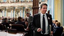 A new poll published over the weekend by Leger Marketing shows a PQ led by Pierre Karl Péladeau would defeat Premier Philippe Couillard's Liberals in an election. (Jacques Boissinot/The Canadian Press)