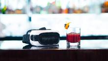 The world's first virtual-reality cocktail, available at the Lobby Bar in London, is called the Origin and costs $32. (James Bedford)