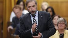 NDP leader Thomas Mulcair prods the Prime Minister with more questions over the recent Senate expense scandal, June 4, 2013. (Chris Wattie/Reuters)