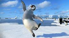 "A happy-foot scene from ""Happy Feet Two"""