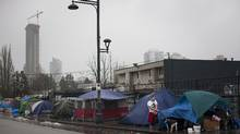 A new report by the non-profit group Megaphone highlights the increase in homeless deaths, which they attribute to a lack of affordable housing and limited harm-reduction and shelter services. (Rafal Gerszak For The Globe and Mail)