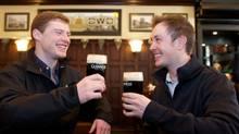 Guinness ambassadors Mark Rossiter, left, and David Tunney.