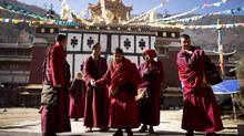 Monks at the Jingang temple in Kangding January 21, 2013. (John Lehmann/The Globe and Mail)