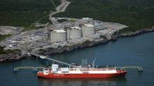 The Canaport LNG terminal in Saint John. In Canada, LNG, on a per-litre equivalent basis, is now some 40-per-cent cheaper than diesel. There are other benefits to liquefied natural gas, too, including sharp declines in emissions, that have encouraged Encana to now run half its contracted drilling rigs on natural gas. (Canaport)