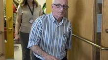 """Fred Weeks leaves Supreme Court at the trial of Melissa Ann Shepard in Sydney, N.S., June 10, 2013. Weeks was drugged by Shepard, the 78-year-old woman dubbed the """"Black Widow,"""" who pleaded guilty to administering a noxious thing and failing to provide the necessities of life for drugging Weeks. The couple had married days earlier. (Andrew Vaughan/THE CANADIAN PRESS)"""