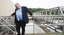 Toronto Mayor Rob Ford poses for a photo at the Humber Treatment Plant during a brief tour in Toronto on Tuesday, July 9, 2013, a day after a severe rainstorm caused substantial flooding, power outages and road closures. (Michelle Siu/The Globe and Mail)