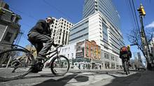 Bike riders have to realize that they are invisible to many drivers. (Fred Lum/Fred Lum/The Globe and Mail)
