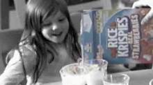 Kellogg Co.'s Rice Krispies has released ads featuring parents listening to the cereal's trademark 'snap crackle and pop' sound with their own kids.