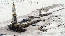 A Rosneft oil rig in eastern Siberia (SERGEY PONOMAREV/AP)