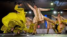 The Dancers perform during an event in Vancouver, B.C., on Tuesday January 22, 2013, announcing that The Times of India Film Awards will be held in the city in April. (DARRYL DYCK/THE CANADIAN PRESS)