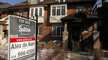 A house for sale during the winter real estate market in Toronto February 06, 2013. (Fernando Morales/The Globe and Mail)