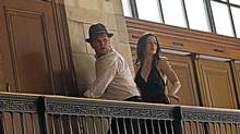 "Matt Damon and Emily Blunt fight their destinies in ""The Adjustment Bureau."" (Andrew Schwartz)"
