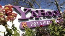 In this Jan. 4, 2012 file photo, the company logo is displayed at Yahoo headquarters in Sunnyvale, Calif. (Paul Sakuma/AP)