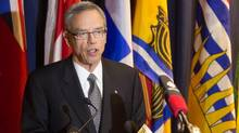 Joe Oliver, speaking at the 2013 Energy and Mines Ministers' conference Monday in Yellowknife, said the U.S. market is important for Canada, but that it is unlikely 'to be growing at the pace that it had been growing.' (MARKETWIRE)