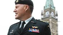 General Walter Natynczyk, the Chief of the Defence Staff, leaves a Parliament Hill press conference on May 14, 2010. (Sean Kilpatrick/THE CANADIAN PRESS)