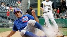 Pittsburgh Pirates third baseman Andy LaRoche (15) is seen in this file photo. (Gene J. Puskar/AP)